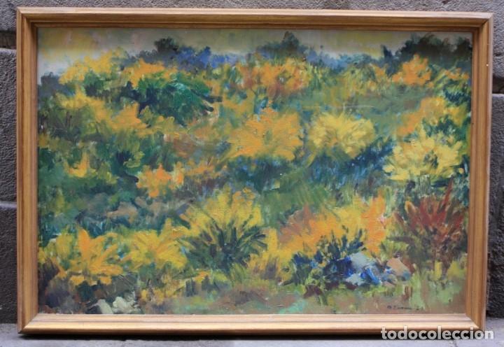 MIQUEL DURAN (1939), PAISAJE, 1977, PINTURA AL ÓLEO SOBRE TELA, FIRMADO, CON MARCO. 79X52,5CM (Arte - Pintura - Pintura al Óleo Contemporánea )