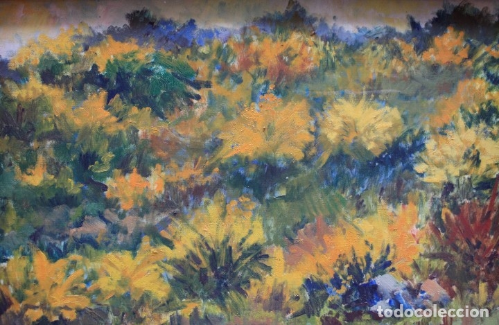 Arte: Miquel Duran (1939), paisaje, 1977, pintura al óleo sobre tela, firmado, con marco. 79x52,5cm - Foto 2 - 182465488