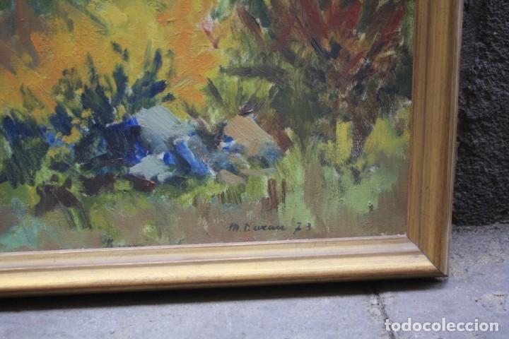Arte: Miquel Duran (1939), paisaje, 1977, pintura al óleo sobre tela, firmado, con marco. 79x52,5cm - Foto 3 - 182465488