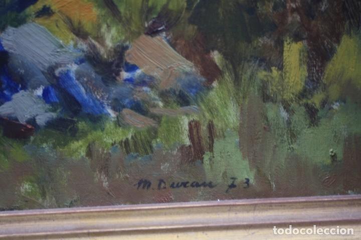 Arte: Miquel Duran (1939), paisaje, 1977, pintura al óleo sobre tela, firmado, con marco. 79x52,5cm - Foto 4 - 182465488