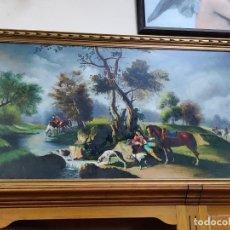 Arte: PINTURA AL OLEO ANTIGUA J. ALFEREZ. Lote 182484557