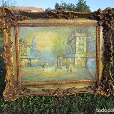 Arte: PRECIOSA PINTURA CON MARCO BAROCO ORO FINO. Lote 182169188