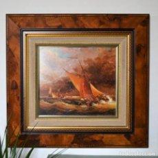 Arte: OLEO SOBRE LIENZO DEL ARTISTA FRANCISCO SANCHIZ BERNABEU ESPECIALISTA EN TEMAS MARÍTIMOS * MARINA. Lote 182510150