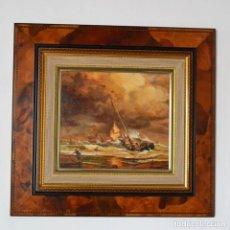 Arte: OLEO SOBRE LIENZO DEL ARTISTA FRANCISCO SANCHIZ BERNABEU ESPECIALISTA EN TEMAS MARÍTIMOS * MARINA. Lote 182510383