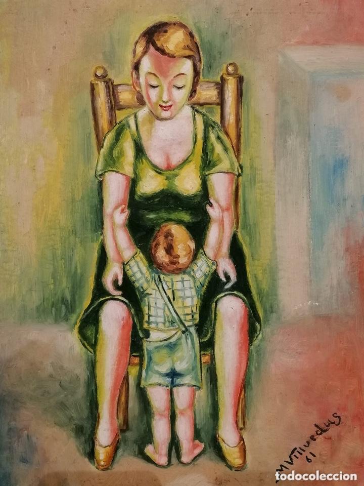 Arte: Madre abrazando a su hijo, 1961 - Foto 2 - 182537303