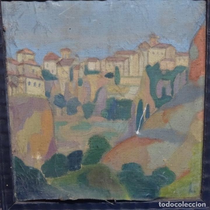 Arte: Óleo sobre tela escuela catalana.gran colorido.anonimo. - Foto 2 - 182547196