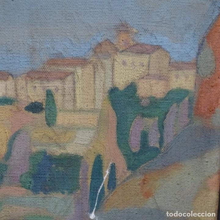 Arte: Óleo sobre tela escuela catalana.gran colorido.anonimo. - Foto 4 - 182547196