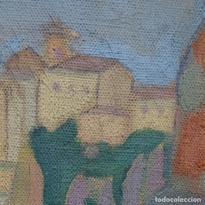 Arte: Óleo sobre tela escuela catalana.gran colorido.anonimo. - Foto 9 - 182547196