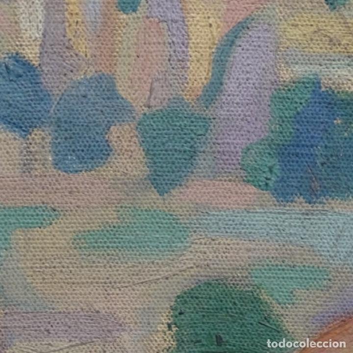 Arte: Óleo sobre tela escuela catalana.gran colorido.anonimo. - Foto 10 - 182547196