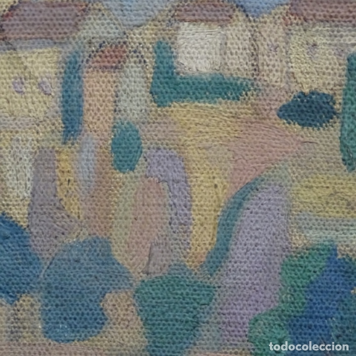 Arte: Óleo sobre tela escuela catalana.gran colorido.anonimo. - Foto 11 - 182547196