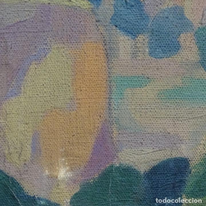 Arte: Óleo sobre tela escuela catalana.gran colorido.anonimo. - Foto 12 - 182547196