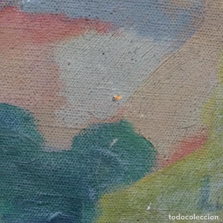 Arte: Óleo sobre tela escuela catalana.gran colorido.anonimo. - Foto 13 - 182547196