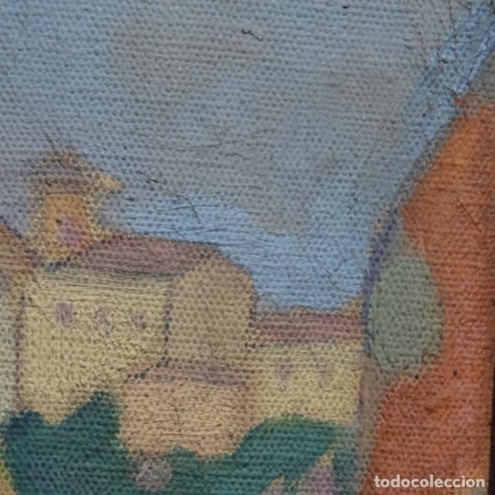 Arte: Óleo sobre tela escuela catalana.gran colorido.anonimo. - Foto 14 - 182547196
