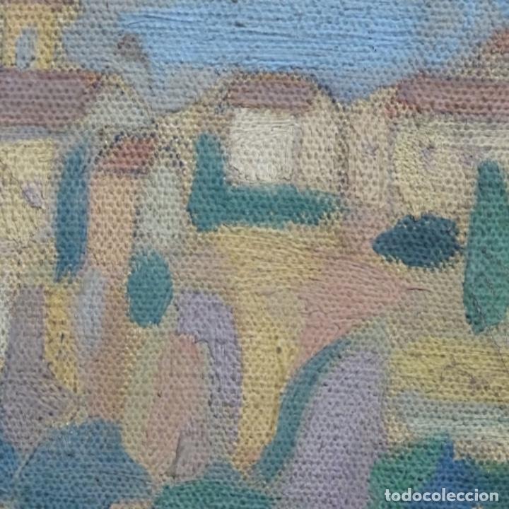 Arte: Óleo sobre tela escuela catalana.gran colorido.anonimo. - Foto 15 - 182547196