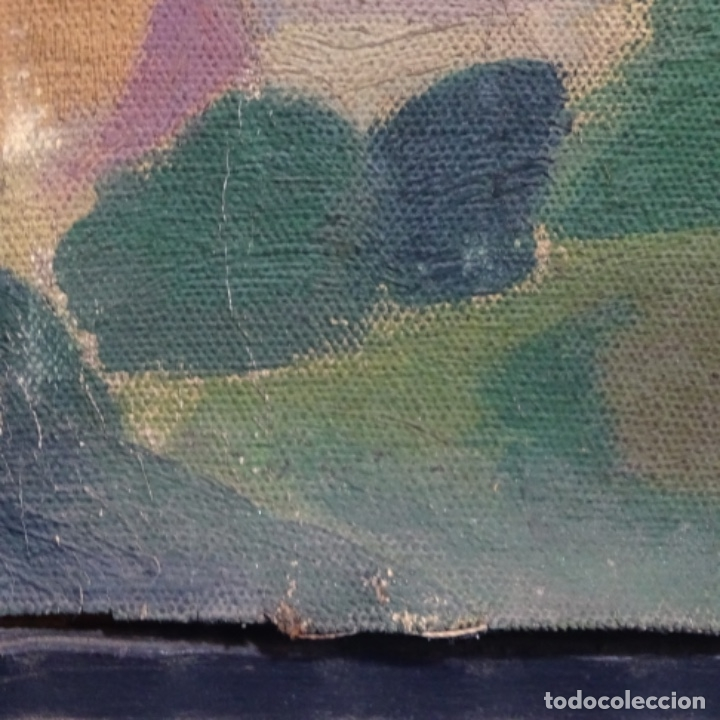 Arte: Óleo sobre tela escuela catalana.gran colorido.anonimo. - Foto 16 - 182547196