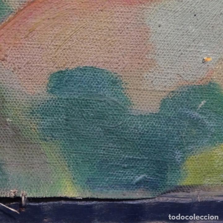 Arte: Óleo sobre tela escuela catalana.gran colorido.anonimo. - Foto 17 - 182547196
