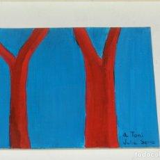 Arte: (M) PINTURA DE JULIA SERRA - ENMARCADO 23X21,5 CM, PINTURA 13,5X12 CM, BUEN ESTADO. Lote 182567807