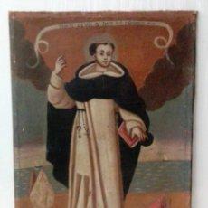 Arte: ANTIGUO ÓLEO SOBRE LIENZO DE SANTO DOMINGO DE GUZMÁN. SIGLO XVII. BASTIDOR ORIGINAL. 87X67. Lote 177521038