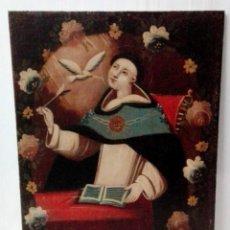 Arte: SOBERBIO SANTO TOMÁS DE AQUINO, ÓLEO SOBRE LIENZO. SIGLO XVII. 97X73. Lote 177521292