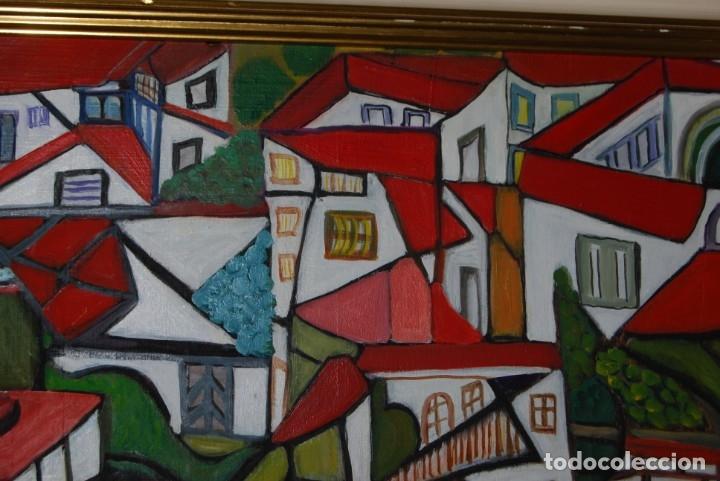Arte: ÓLEO SOBRE TABLA - PAISAJE CON CASAS - ANA MARÍA DE LA COTERA - Foto 4 - 182591238