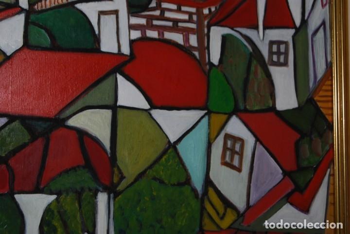 Arte: ÓLEO SOBRE TABLA - PAISAJE CON CASAS - ANA MARÍA DE LA COTERA - Foto 6 - 182591238