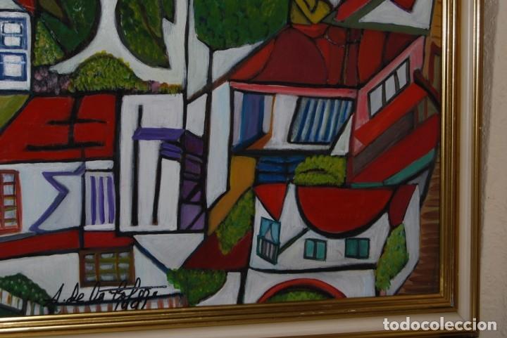 Arte: ÓLEO SOBRE TABLA - PAISAJE CON CASAS - ANA MARÍA DE LA COTERA - Foto 9 - 182591238