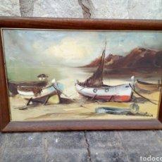 Arte: ÓLEO FIRMADO POR ROCA. Lote 182598621