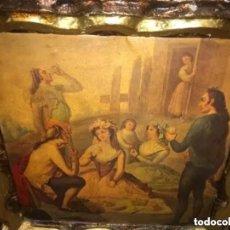 Arte: ANTIGUA PINTURA EN TELA ÉPOCA BARROCO? ESCENA CAMPESTRE. Lote 182619363