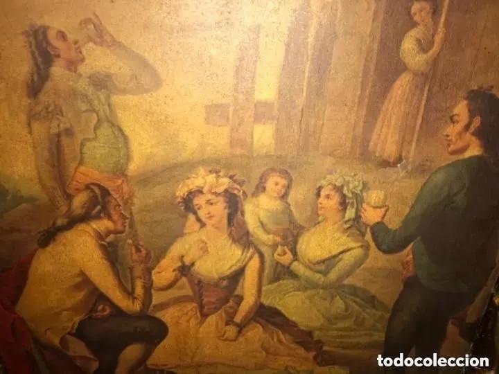 Arte: ANTIGUA PINTURA EN TELA ÉPOCA BARROCO? ESCENA CAMPESTRE - Foto 2 - 182619363