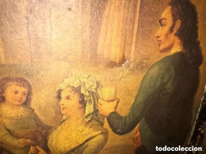 Arte: ANTIGUA PINTURA EN TELA ÉPOCA BARROCO? ESCENA CAMPESTRE - Foto 3 - 182619363