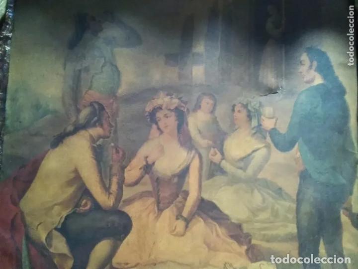 Arte: ANTIGUA PINTURA EN TELA ÉPOCA BARROCO? ESCENA CAMPESTRE - Foto 8 - 182619363