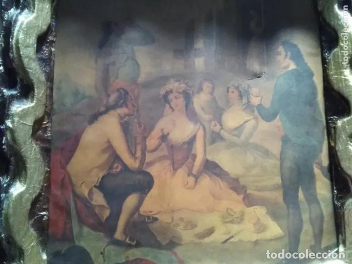 Arte: ANTIGUA PINTURA EN TELA ÉPOCA BARROCO? ESCENA CAMPESTRE - Foto 9 - 182619363