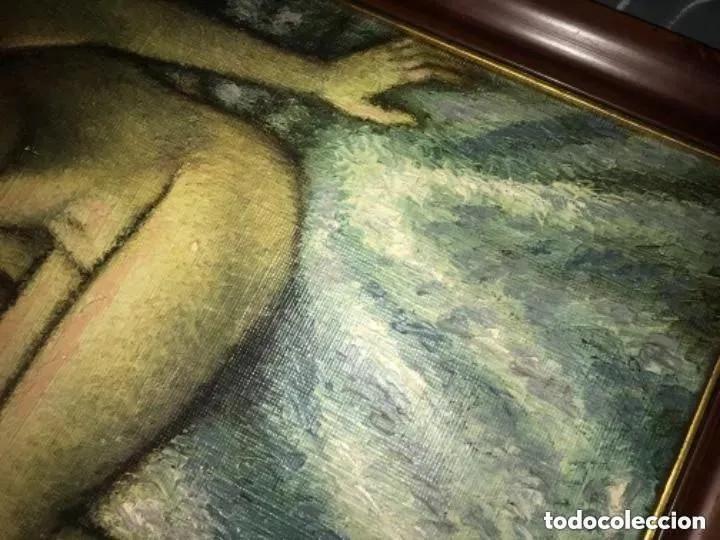 Arte: IMPRESIONANTE Y ANTIGUO OLEO DESNUDO MUJER - Foto 4 - 182620450