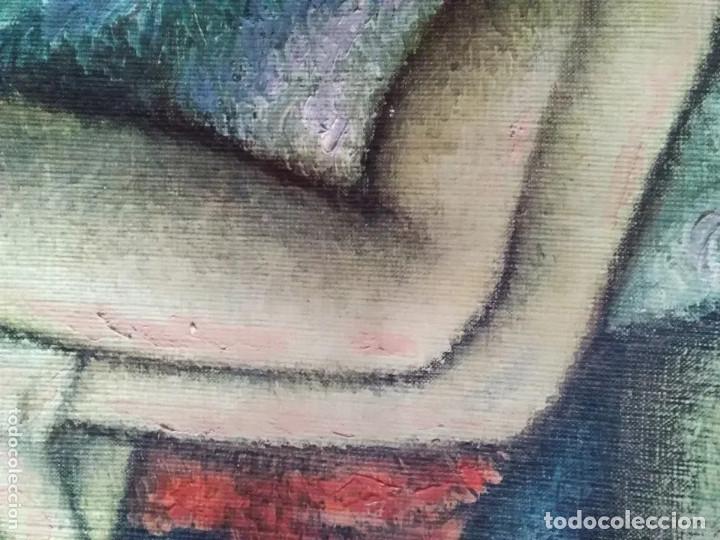 Arte: IMPRESIONANTE Y ANTIGUO OLEO DESNUDO MUJER - Foto 9 - 182620450