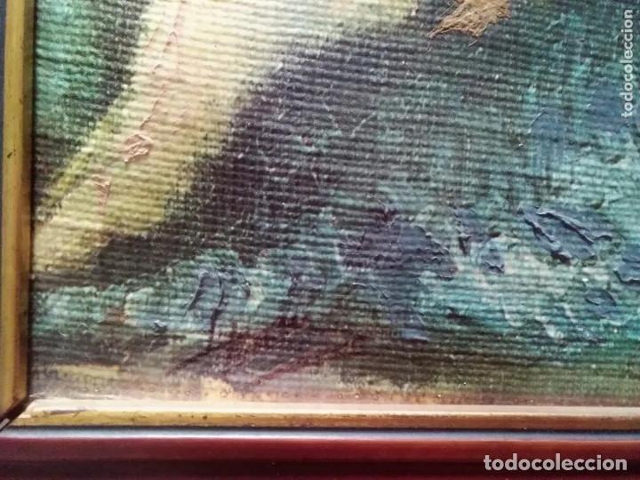 Arte: IMPRESIONANTE Y ANTIGUO OLEO DESNUDO MUJER - Foto 10 - 182620450