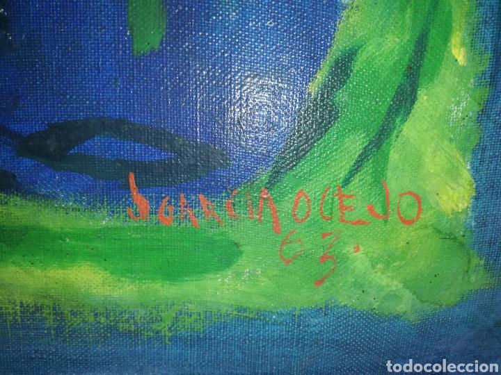 Arte: Oleo en madera del gran pintor Mexicano fallecido. J. GARCÍA OCEJO.1963.por favor lean descripción - Foto 5 - 182638736