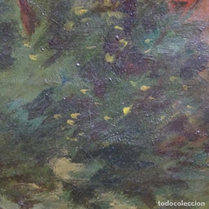 Arte: Óleo sobre tela firmado eulalia font.finales sxix principios s.xx. - Foto 8 - 182643836