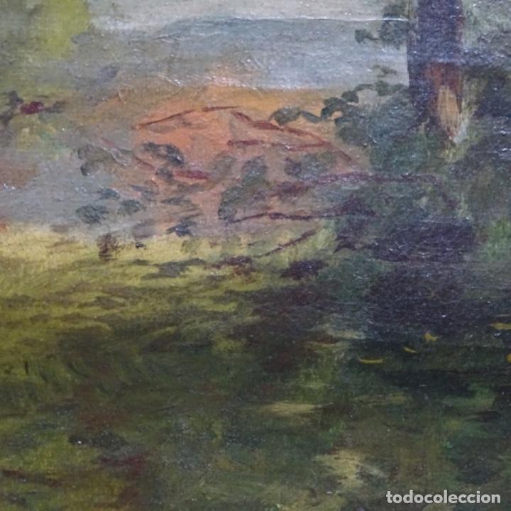 Arte: Óleo sobre tela firmado eulalia font.finales sxix principios s.xx. - Foto 11 - 182643836