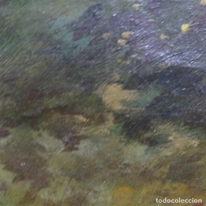 Arte: Óleo sobre tela firmado eulalia font.finales sxix principios s.xx. - Foto 12 - 182643836