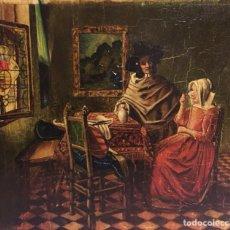 Arte: OLEO SOBRE TABLA DE J.VERMEER ,ARTISTA DESCONOCIDO PROCEDE DE ALEMANIA. Lote 182644527