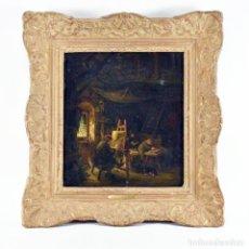 Arte: ADRIAN VAN OSTADE / ATRIBUIDO ORIGINAL OLEO SOBRE LIENZO S.XVIII. Lote 182653318