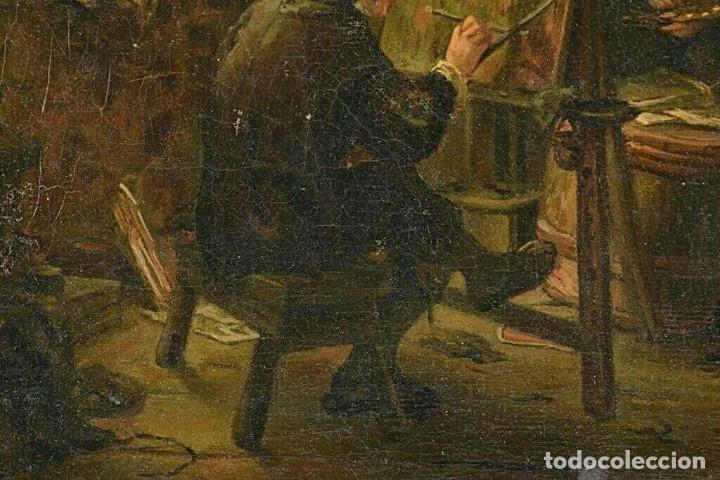 Arte: Adrian van Ostade / Atribuido original oleo sobre lienzo S.XVIII - Foto 4 - 182653318