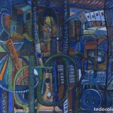 Arte: ISABEL SERRAHIMA (1934-1999) ÓLEO SOBRE LIENZO COMPOSICIÓN ABSTRACTA . Lote 182695543