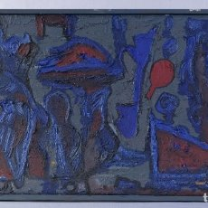 Arte: ISABEL SERRAHIMA ÓLEO SOBRE LIENZO COMPOSICIÓN FIGURAS Y OBJETOS . Lote 182696383