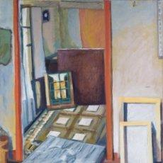 Arte: ISABEL SERRAHIMA ÓLEO SOBRE LIENZO VISTA INTERIOR CON CUADROS FIRMADO Y FECHADO 1979. Lote 182697136