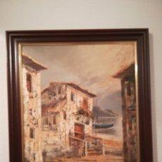Arte: ANTIGUO CUADRO PINTURA SOBRE LIENZO. Lote 182785913