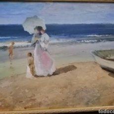 Arte: OLEO PLAYA. Lote 182792697
