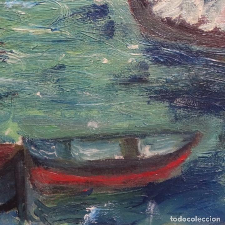 Arte: Oleo expresionista sobre tela de firma ilegible. - Foto 7 - 182805435