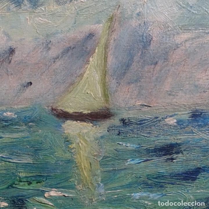 Arte: Oleo expresionista sobre tela de firma ilegible. - Foto 8 - 182805435