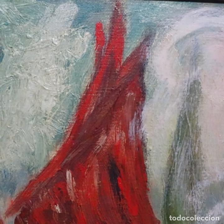 Arte: Oleo expresionista sobre tela de firma ilegible. - Foto 10 - 182805435